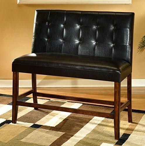 Ashley Furniture Signature Design Lacey Double UPH Barstool Medium Brown Finish Set of 2