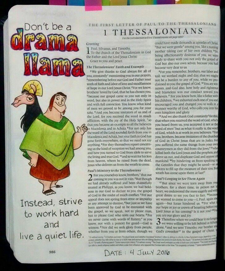 Bev Knaup bible journaling 1 Thessalonians 4:11