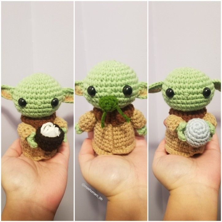 Bebé yoda amigurumi crochet starwars - YouTube | 724x724