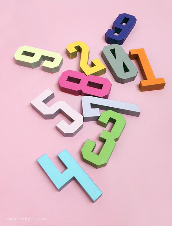 FREEBIE - 3D Letter + Number Templates