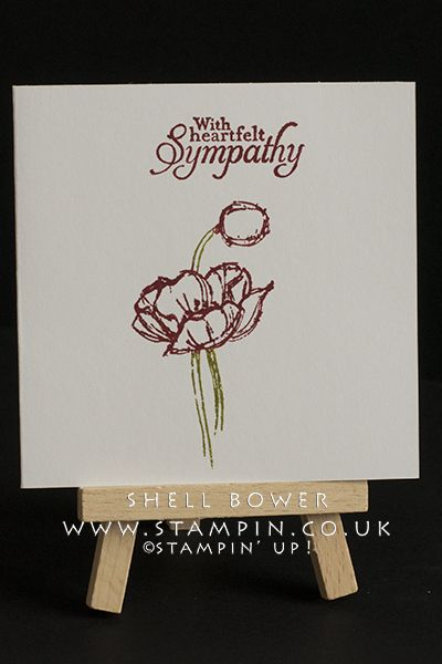 Sympathy my stampin up cards pinterest