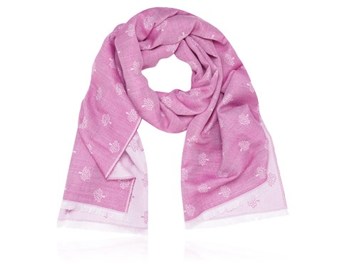 Mulberry - Tamara Scarf in Mulberry Pink Silk Cotton Mix