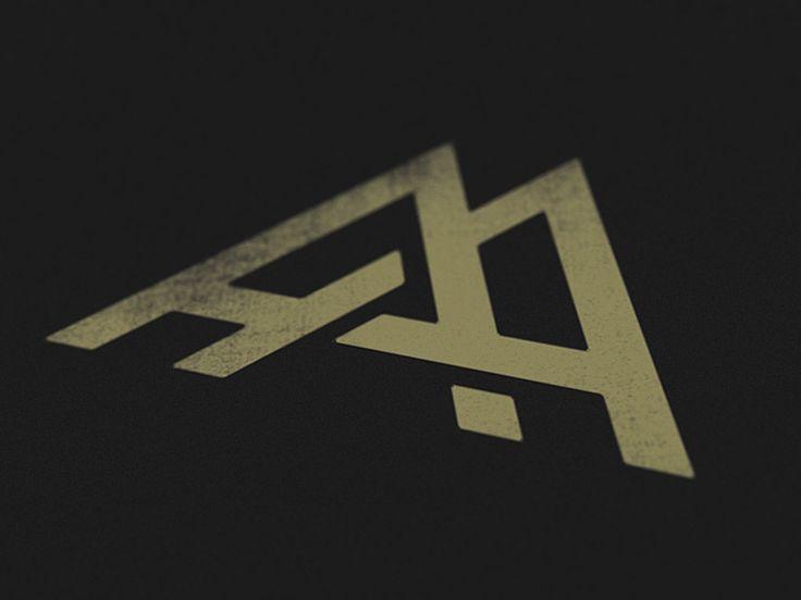 dribbble aa monogram by andrew harrington design