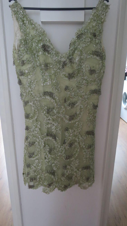 Prachtige originele jaren '30 jurk, handgemaakt, met baleinen.