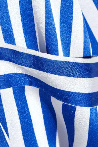 By Malene Birger - Lanfi Striped Satin Blouse - Blue
