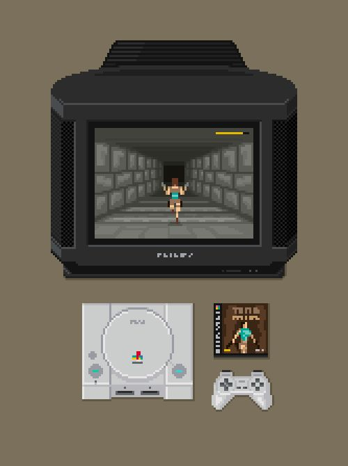 PlayStation Setup Pixel Artist: mazeon Source: mazeon.com