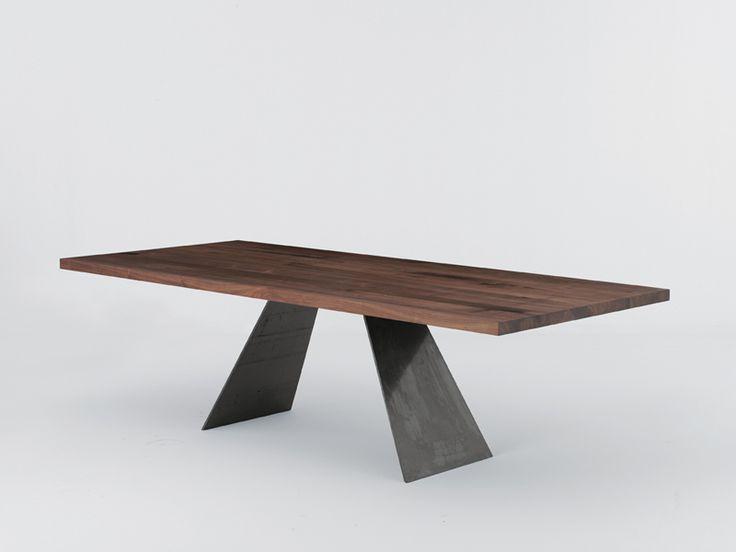 Tavolo rettangolare in legno RANDOM by Riva 1920 | design Studio Balutto Associati
