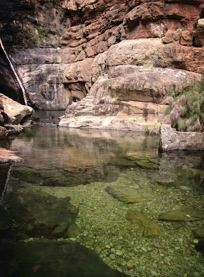 Meiringspoort Waterfall - only 40 minutes drive from Prince Albert and  if you are lucky you may even spot the Karoo Mermaid.