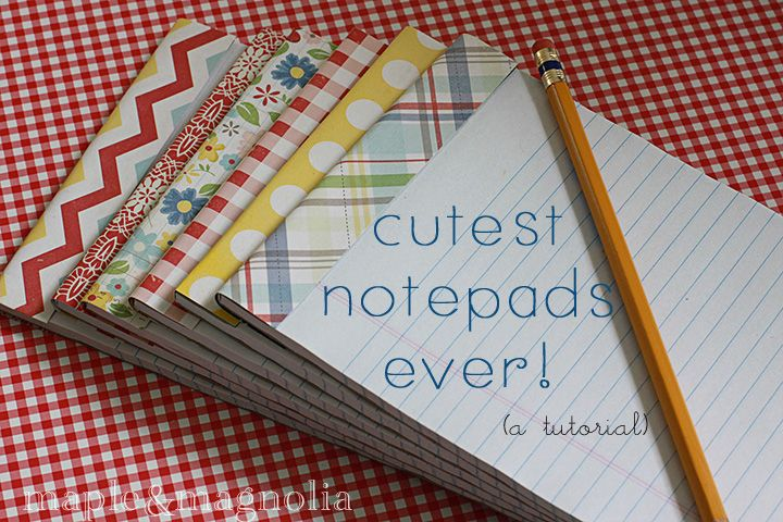 I love this notepad customization idea for gift-giving. Great for favors.