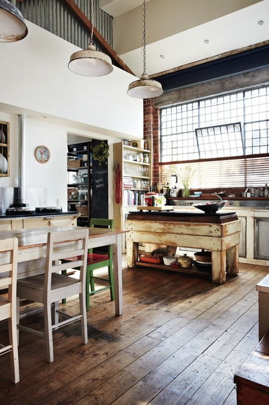 : Houses, Idea, Rustic Industrial, Dreams, Industrial Kitchens, Loft Kitchens, Interiors Design, Rustic Kitchens, Design Home