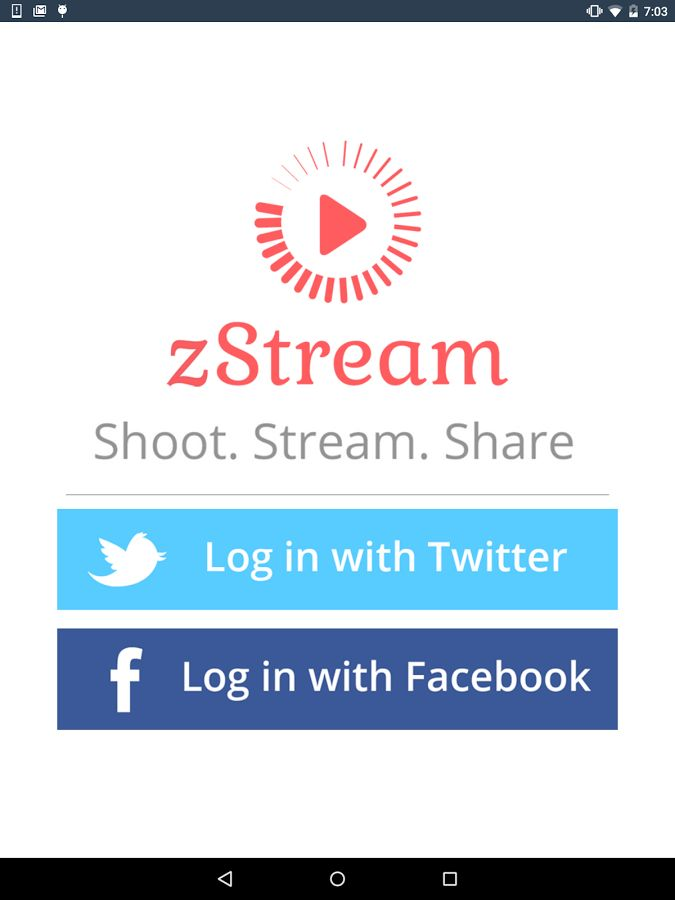 Go live and Instantly share your live videos to Twitter and Facebook. And Explore live video streams from around the world or browse for broadcasts by topic.