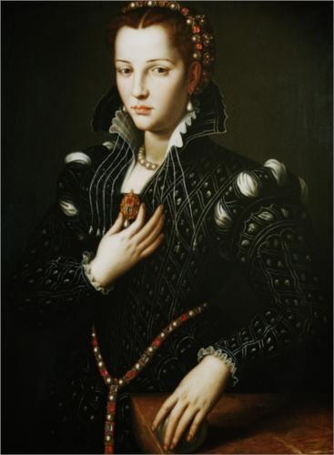 Portrait of Lucrezia de' Medici - Agnolo Bronzino
