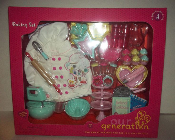 Our Generation Baking Bakery set cupcakes Chef French Patissirie doll #ClothingAccessories I totally need this to recreate Grace Thomas GOTY 2015's patisserie bakery!