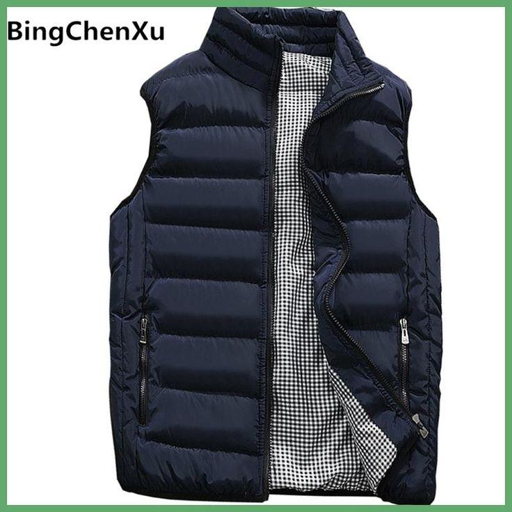 Vest Men New Stylish 2017 Autumn Winter Warm Sleeveless Jacket Army Waistcoat Men's Vest Fashion Casual Coats Mens 10 Colors 419