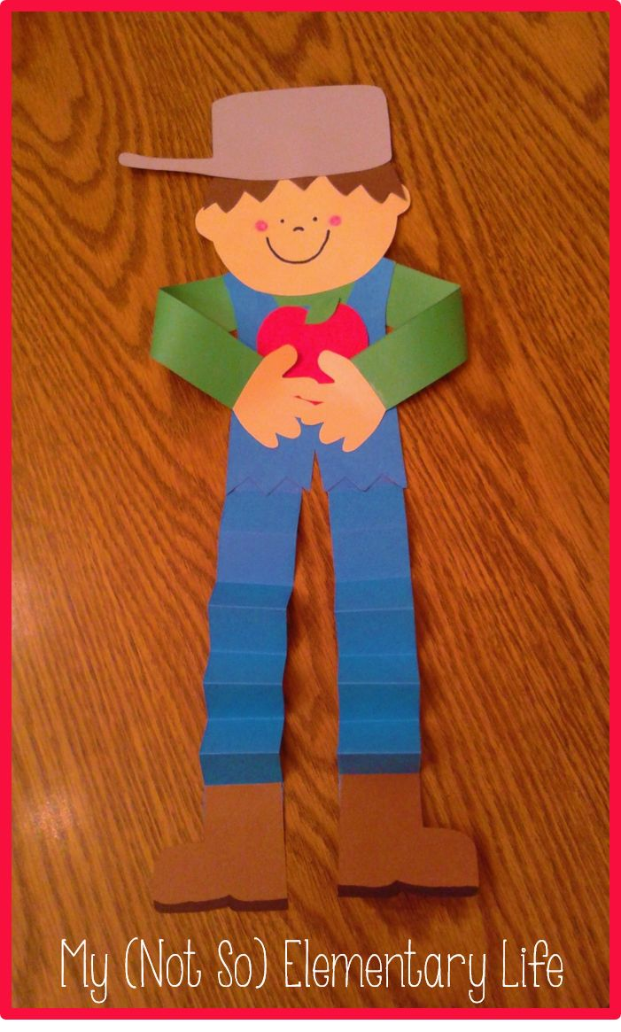 Johnny Appleseed Craft with 6 activity pages
