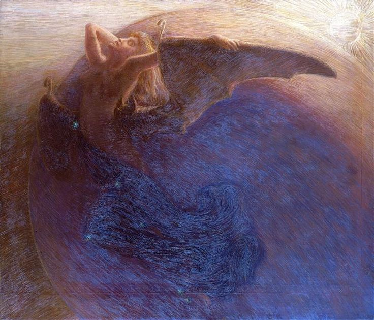 Day Awakens Night - Gaetano Previati  1900