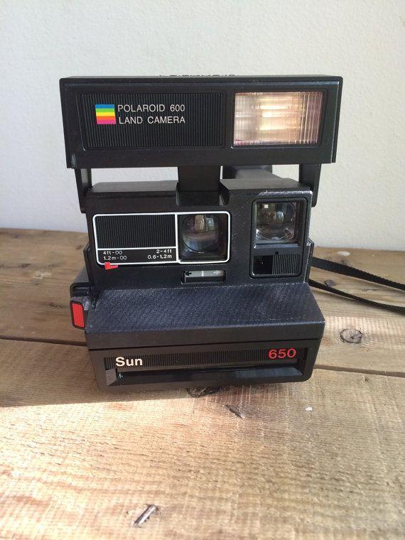 Polaroid 600 Land Camera  Sun 650 Instant Camera in Matte Black Finish by VintageFlicker