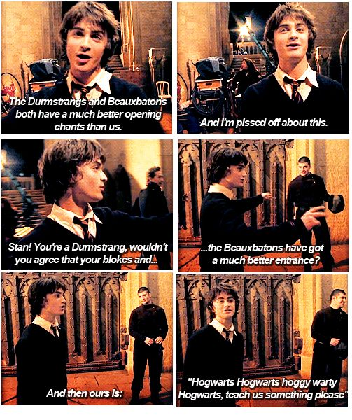 The awkward moment when the actor playing Harry Potter is a better representation of book Harry Potter than movie Harry Potter. This is gold.