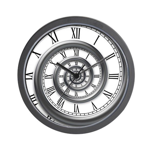 Roman Spiral Wall Clock By Vicevoices Clock Tattoo