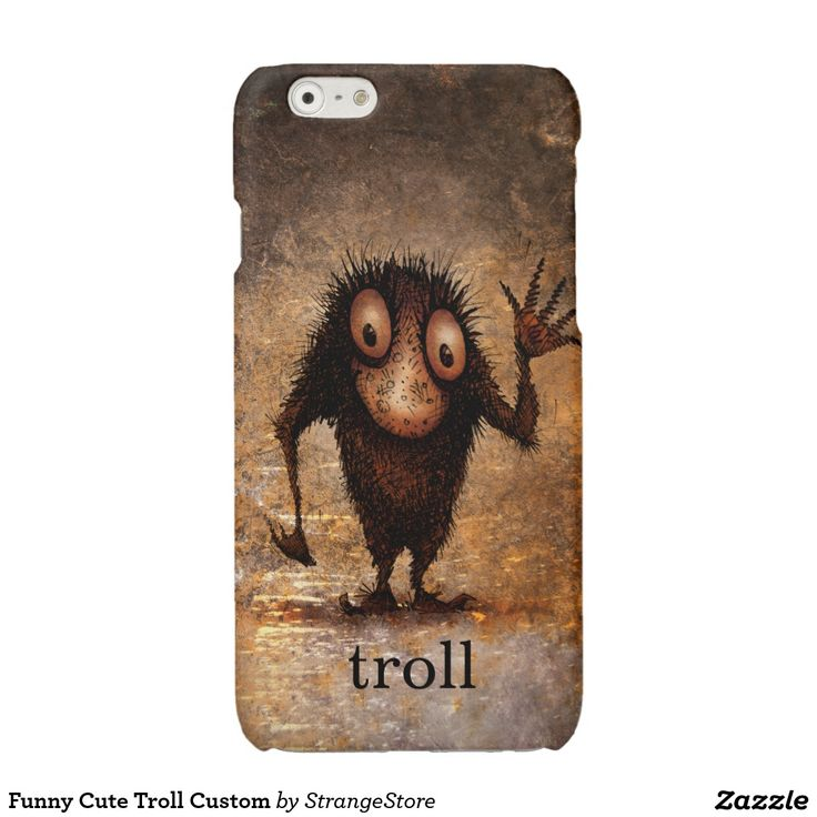 Funny Cute Troll Custom Glossy iPhone 6 Case from #StrangeStore