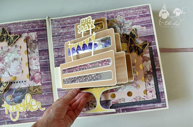 Violet wedding album pop up