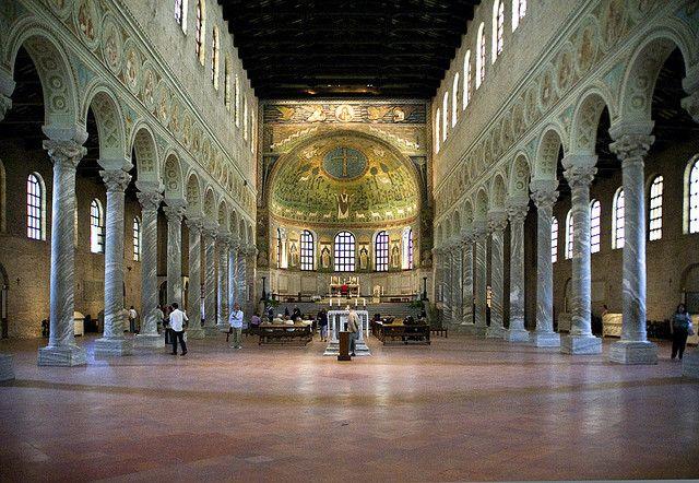 basillica Sappolinaire   Ravenna, The Basilica of St Apollinaire in Classe, interiors. Built on ...