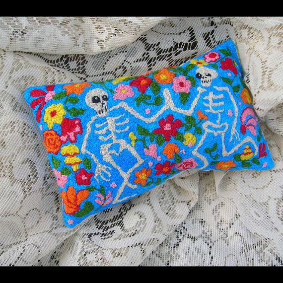 Look how bright and cheerful these skeletons are!