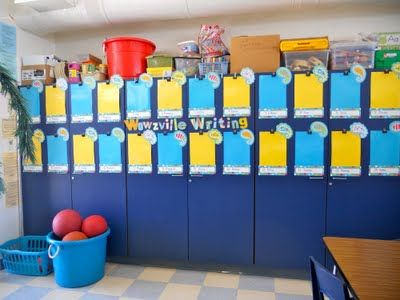 Teacher Bits and Bobs: Classroom Photos.  Features CTP's Dots on Turquoise and Paisley Turquoise!!  So cute!