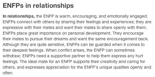mbti enfp relationships and dating