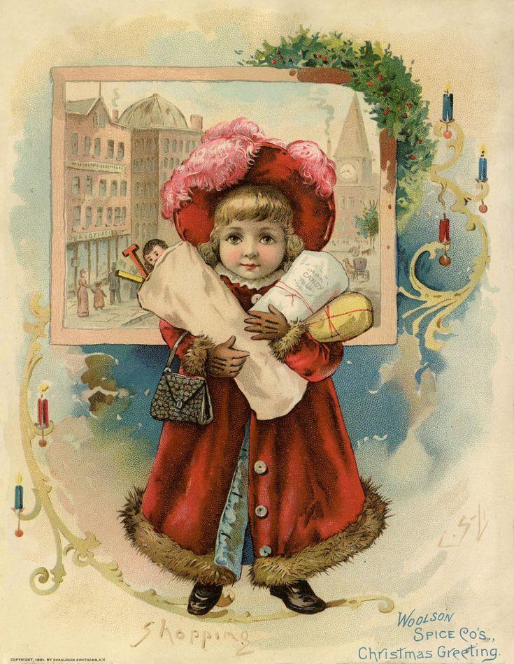 Винтажные рождественские открытки карл фиертаг, открытки