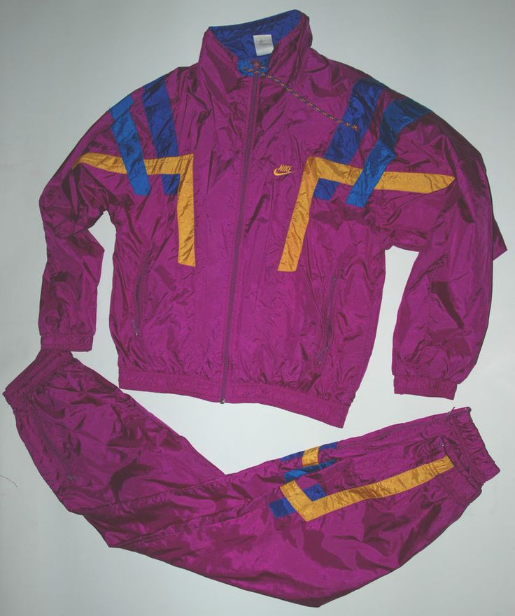 Vintage 90s Nike Full Set Tracksuit Shell Suit Retro