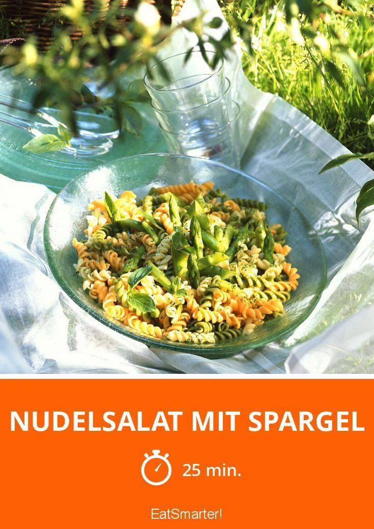 Nudelsalat mit grünem Spargel
