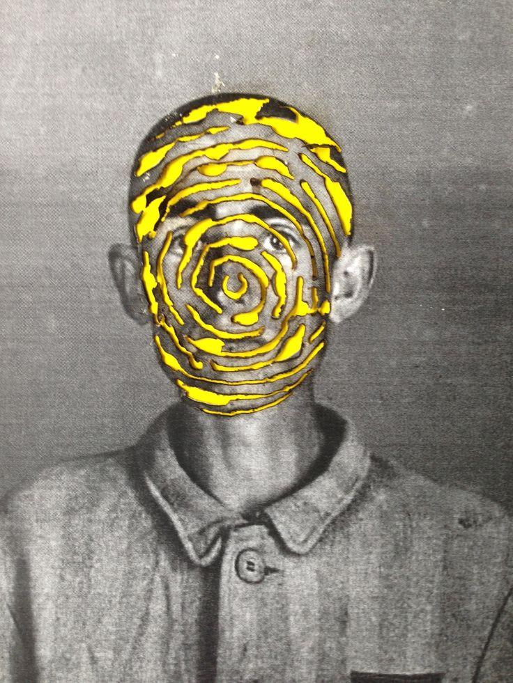 #Pyrografie ##neonart #neon #pyrography #pyrographyart #auschwitz #portrait