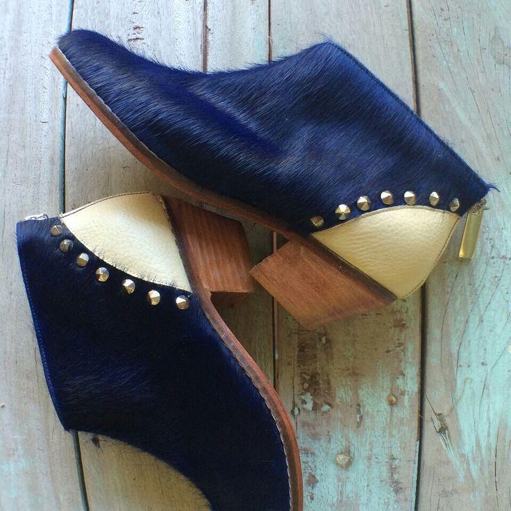 Nairobi blue booties, Miki & Choya