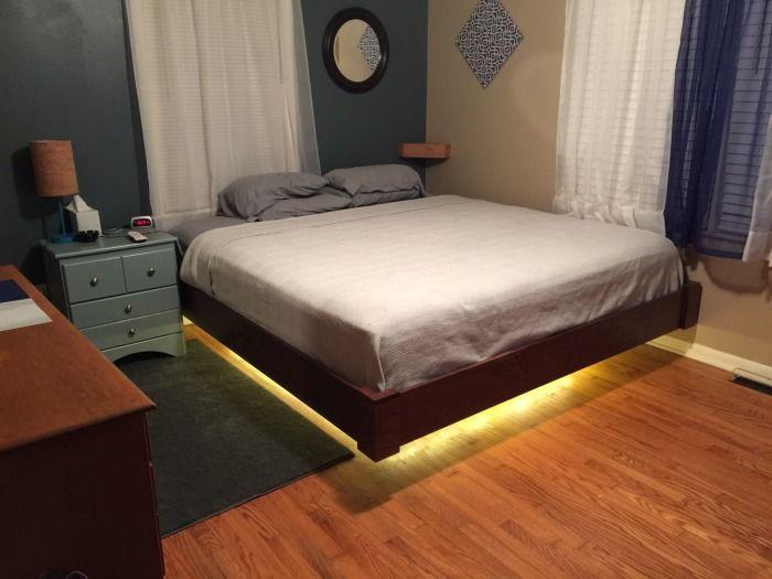 «Летающая» кровать для спальни своими руками (9 фото)