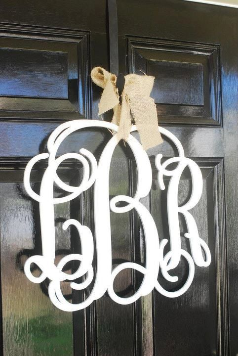 Just received our monogram for our front door and can't wait to hang it!