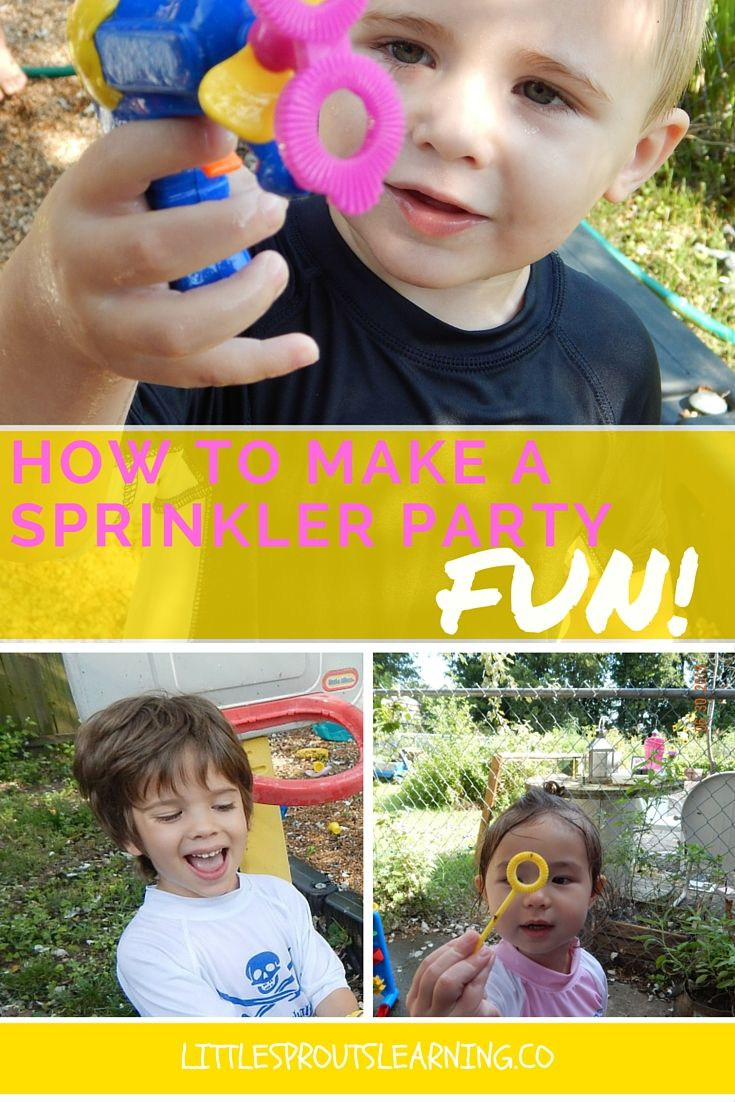 Water sprinkler parties are one of our favorite things at Little Sprouts! A simple fun party that you are excited about is all it takes.