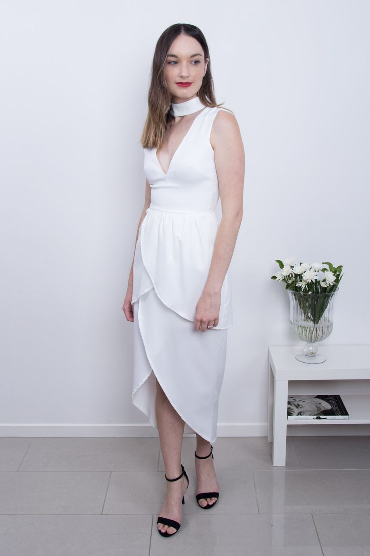 Perfect and Pretty | Sini Tulip Dress in White | Scandinavian Style in Clothing
