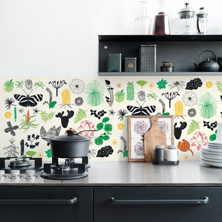 25 Best Ideas About Wallpaper For Kitchen On Pinterest Wall Stickers For Kitchen Vinyl Wall Tiles And Wallpaper Stairs