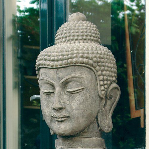 Statues & Sculptures Online Large Garden Sculptures - Stone Buddha Head Statue : Garden Ornaments