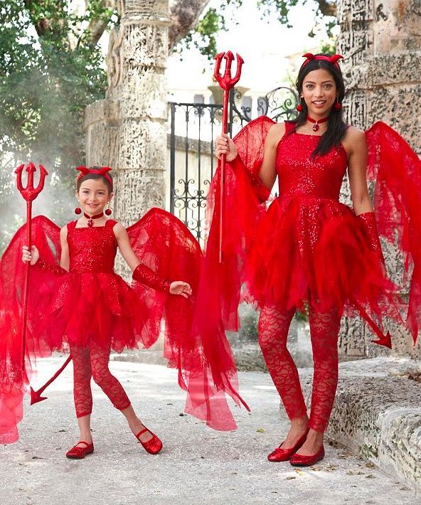 Mother Daughter Matching Sweet Devil Costume