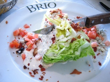 Brio Bistecca Wedge Salad Dressing - I make this all the time and it is DELICIOUS, easy, and tastes just like the restaurant's dressing!