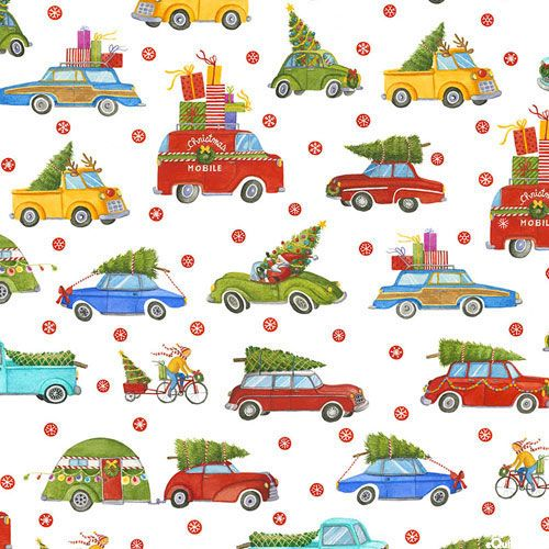 Best Tree on the Lot - Christmas Tree Delivery-Quilt Fabrics from www.eQuilter.com