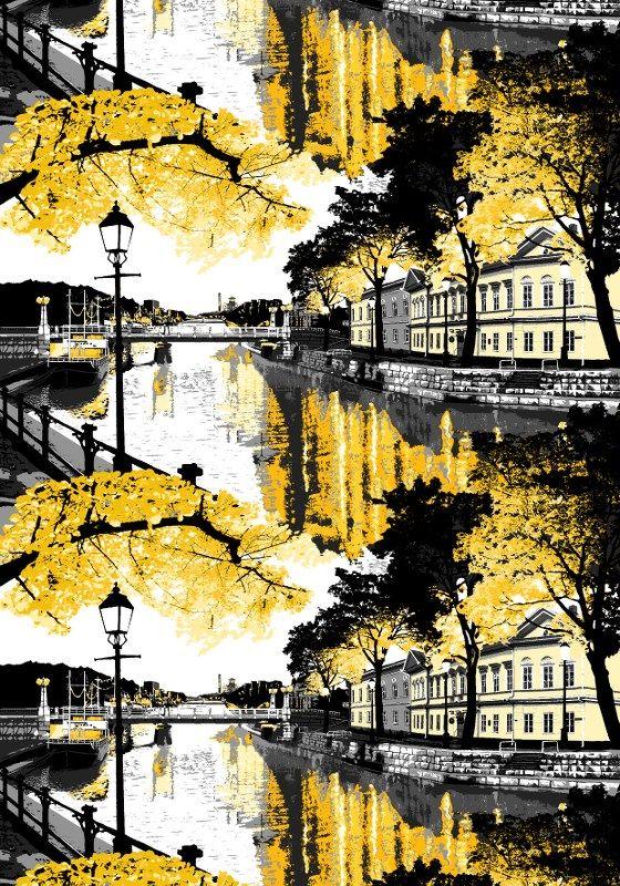 Aurajoki, yellow by Riina Kuikka