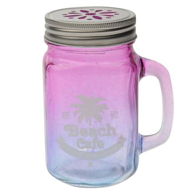 Stanford Home | Stanford Home 2 Colour Summer Mason Jar | Glassware