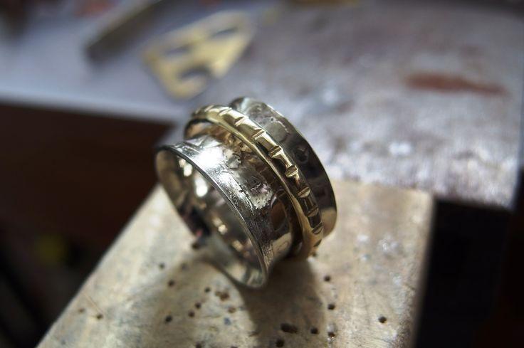 german silver brass ring