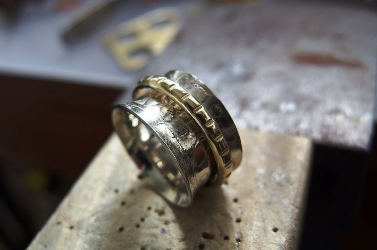 german silver brass ring