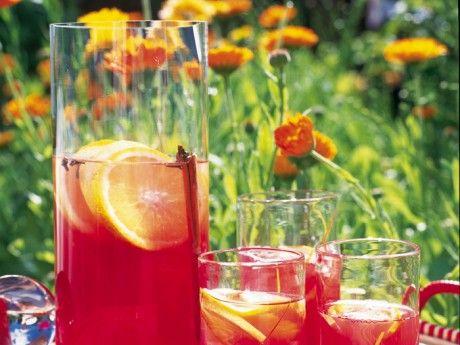 Röd vinbärssaft med sangriakryddor