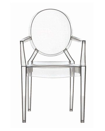 Phillipe Starck Louis Ghost Chair, we like chairs that float but need comfy pillows on back.