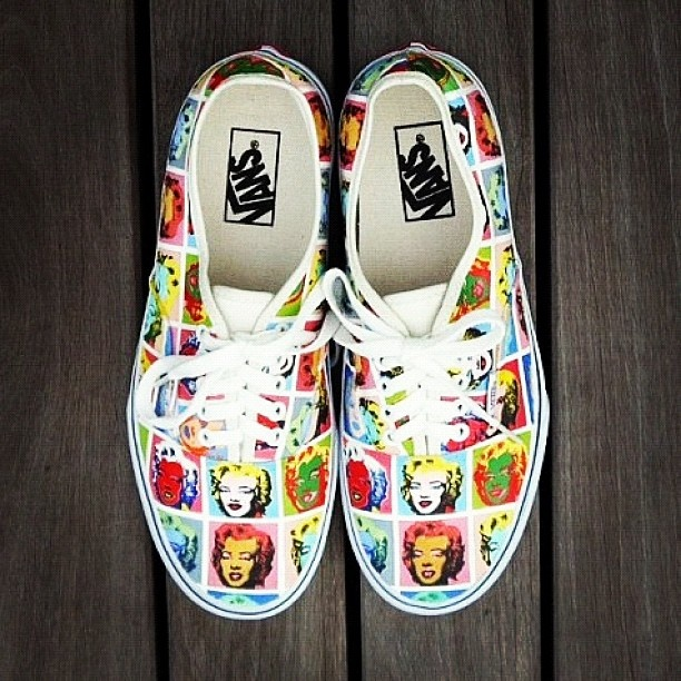 3fafad0d6e11 Marilyn Monroe Vans. These are great. I need them. She is my idol ...